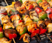 mouth watering bbq food on a self-catering holiday to suffolk