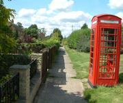 Reydon phone box image from a self-catering cottage holiday in Suffolk